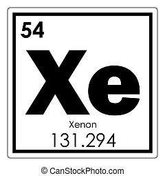 Qumico smbolo xenn elemento ilustraciones de archivo xenn qumico elemento urtaz Images
