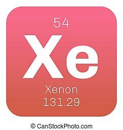 Tabla icon peridico elemento xenn vector vector de xenn qumico elemento urtaz Image collections