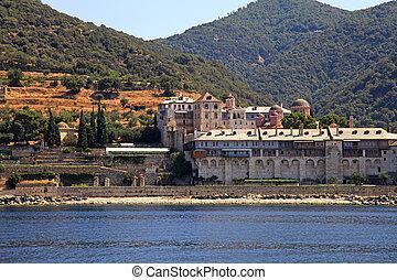 Xenophontos Monastery, Athos Peninsula, Mount Athos, Chalkidiki, Greece