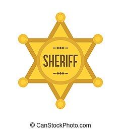 xerife, estrela, ícone