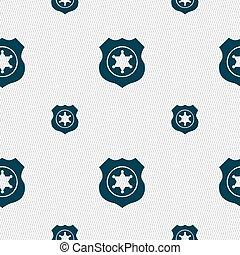 xerife, estrela, ícone, sinal., seamless, padrão, com, geomã©´ricas, texture., vetorial