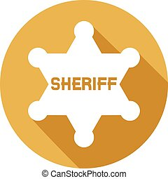 xerife, estrela, apartamento, ícone