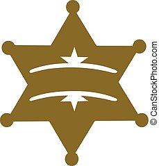 xerife, estrela, com, lugar, para, nome