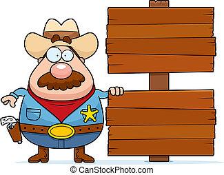 xerife, sinal
