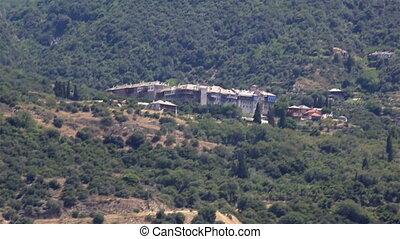 Xeropotamou monastery. Holy Mount Athos. Northern Greece.