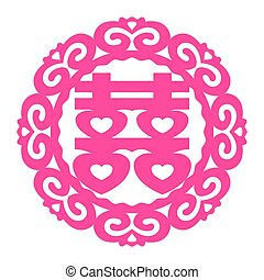 XI,  shuang, 中国語,  happiness), シンボル,  (double, ベクトル