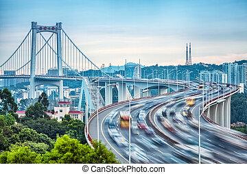 xiamen haicang bridge closeup with hdr