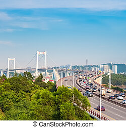 xiamen haicang bridge in daytime