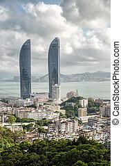 Xiamen shimao strait buildings - Xiamen new landmark twin...