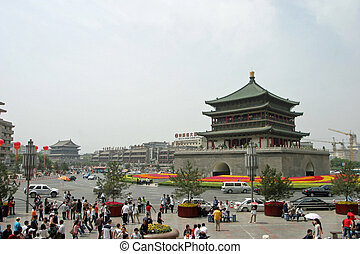 Xian bell tower in Xian, China