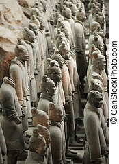 xi\\\'an, terracota, china, soldados