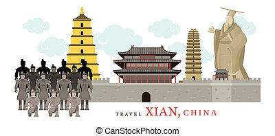 xian, viaje, china