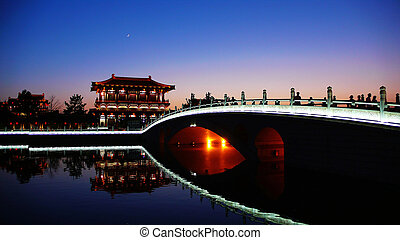 Xian,China - Night scenes of Tang Paradise in Xian,China