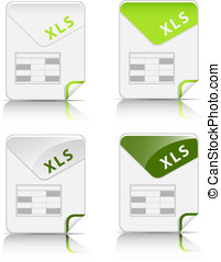 """""""XLS"""" file type icon - Creative and modern design """"XLS"""" file..."""