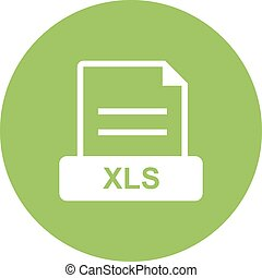 XLS, file, excel icon vector image. Can also be used for file format, design and storage. Suitable for mobile apps, web apps and print media.