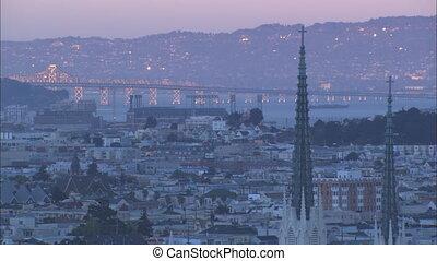 XLS SF Bay Bridge sunset - XLS of the San Francisco Bay...