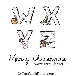 Xmas alphabet