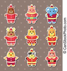 xmas animal stickers