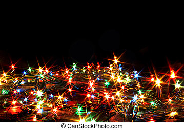 xmas background - xmass color ligts on the black background
