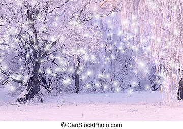 Xmas background with snowflakes