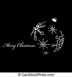 Xmas ball - White silhouette of christmas ball