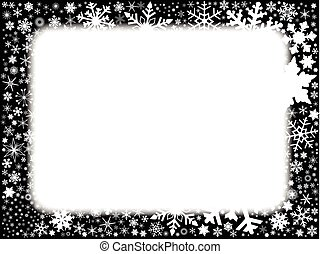 Xmas Black and White Background