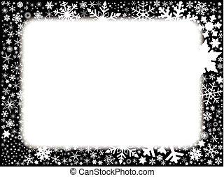 Xmas Black and White Background