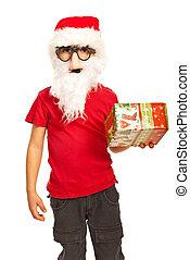 Xmas boy with mask and beard