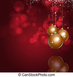 Xmas Bright Red Background