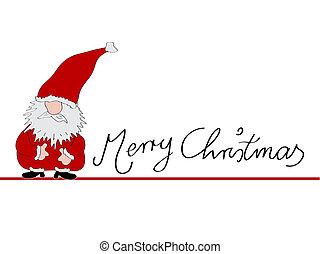 xmas card merry christmas