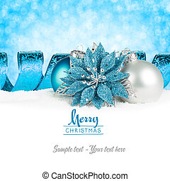xmas card petrol - silver and petrol christmas greeting card