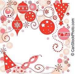 xmas, cartão vermelho