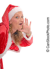 Xmas, Christmas woman - Attractive middle aged woman wearing...