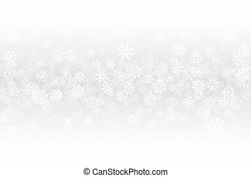Xmas Clear Blank Subtle Background In Ultra High Definition Quality. Frost Effect On Glass With Realistic Snowflakes Overlay On Light Silver Backdrop. Merry Christmas Snow Clean Decoration