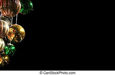 a cluster of xmas balls