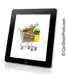 xmas concept. Online shopping