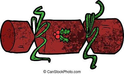 xmas cracker cartoon