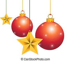 xmas decor - christmas shinning balls and stars decoration...