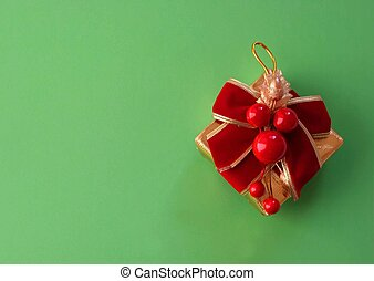 Xmas decoration - Christmas tree decoration - copy space