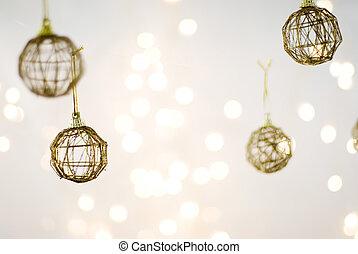 xmas decorations - Christmas Decorations against a light...