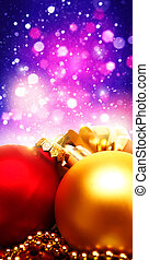 Xmas decorations with beauty bokeh, abstract backgrounds