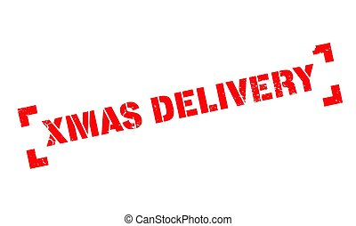 Xmas Delivery rubber stamp