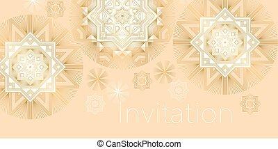 Xmas elegant geometric snowflakes.