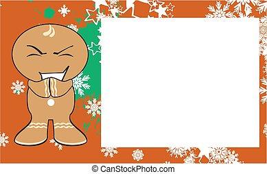 xmas, gingerbread, criança, cartoon10
