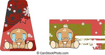 xmas, gingerbread, criança, cartoon4