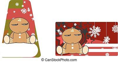 xmas, gingerbread, criança, cartoon7