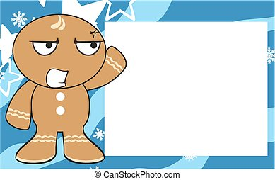 xmas gingerbread kid cartoon2