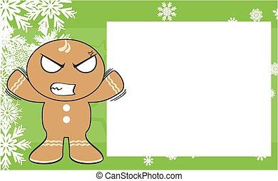 xmas gingerbread kid cartoon3