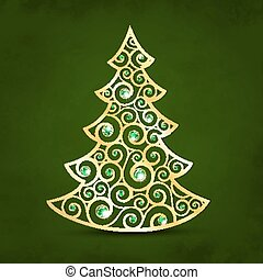 Xmas golden tree