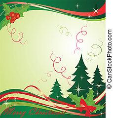 Xmas green banner